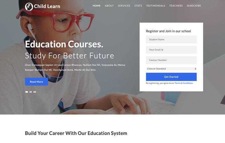 free education child program theme