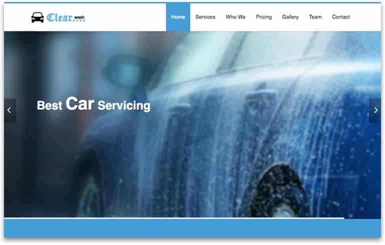 free css clear car wash Website template