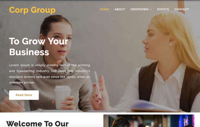 free CSS templates for corporate website
