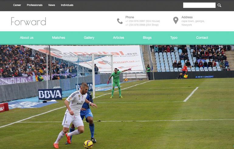 football HTML5 templates