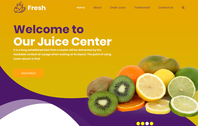fresh juice website template