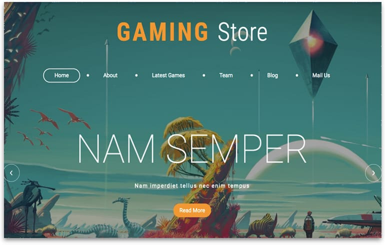 free gaming store template for gamers to shop