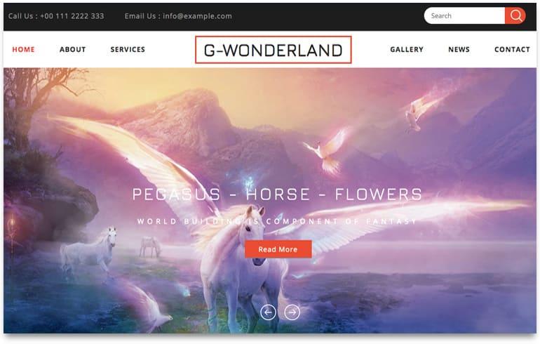 free gaming wonderland template for gaming website