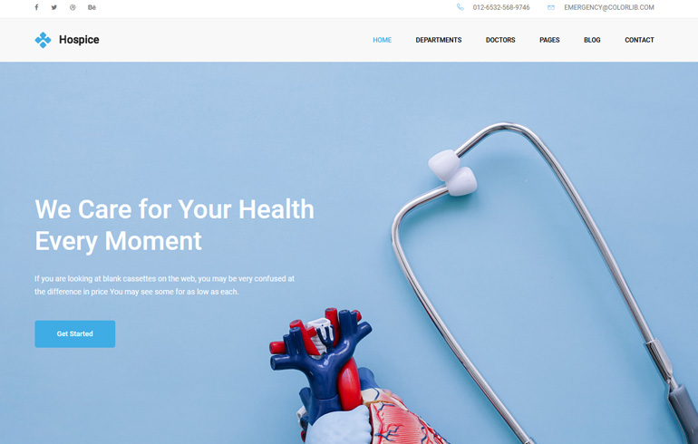 Free Css Website Template for healthcare organisation