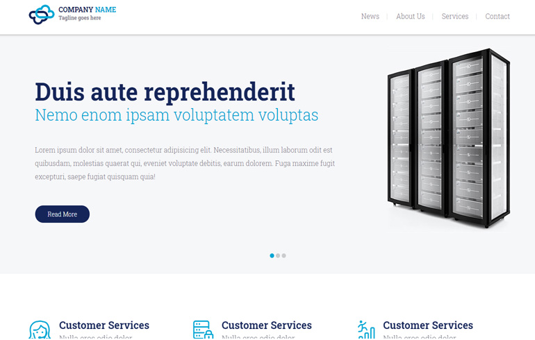 free templates for Web hosting domain for sales