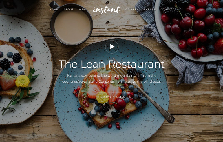free online website for food : Restaurant-Cafe Free CSS Website Templates
