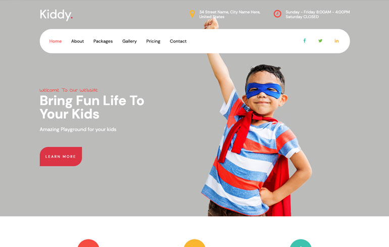 free education school theme for kids