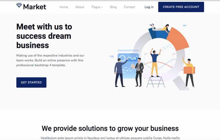free CSS templates for market online website