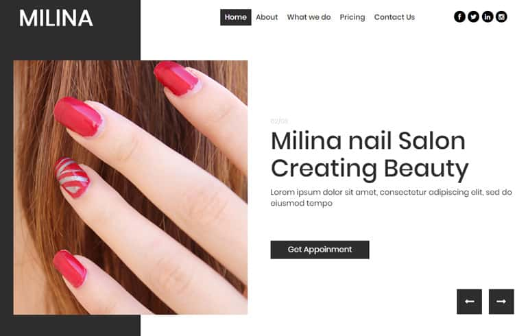 Free Nail Salon CSS Template