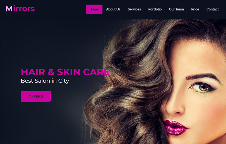 beauty template for beauty parlor website