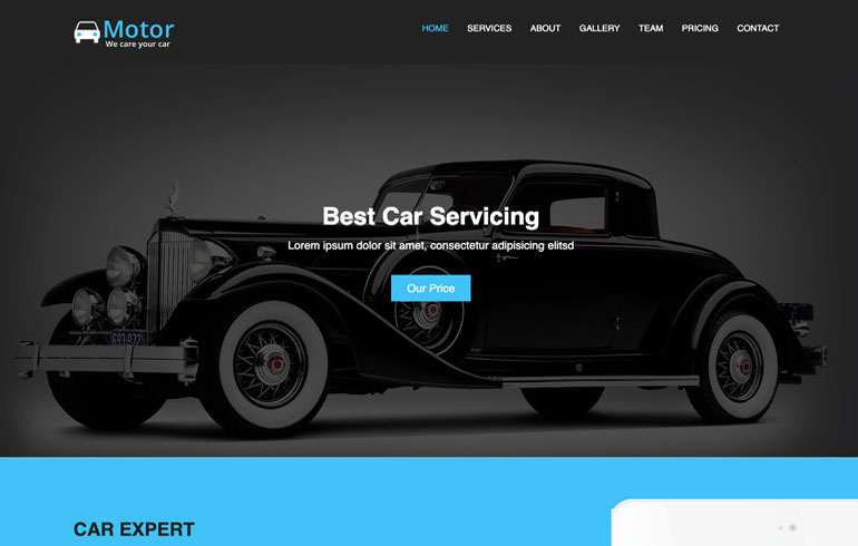 free css automobile template