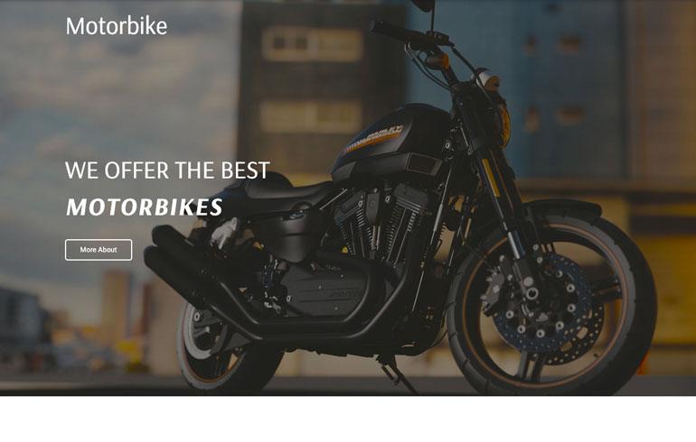 free css motorbike template