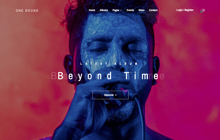 free HTML5 templates for music website for sound system