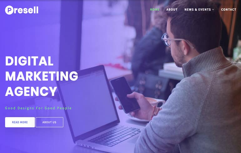 free CSS templates for digital corporate website