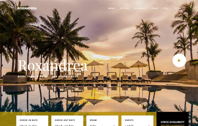 free hotel template accommodation
