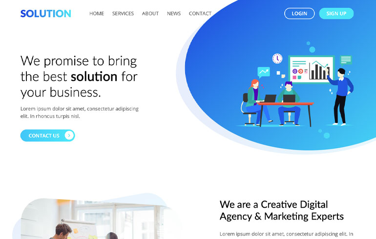 free CSS templates for digital marketing agent website
