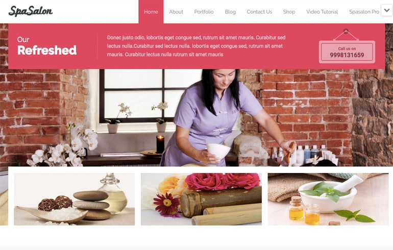 Free Salon CSS Template for Spa