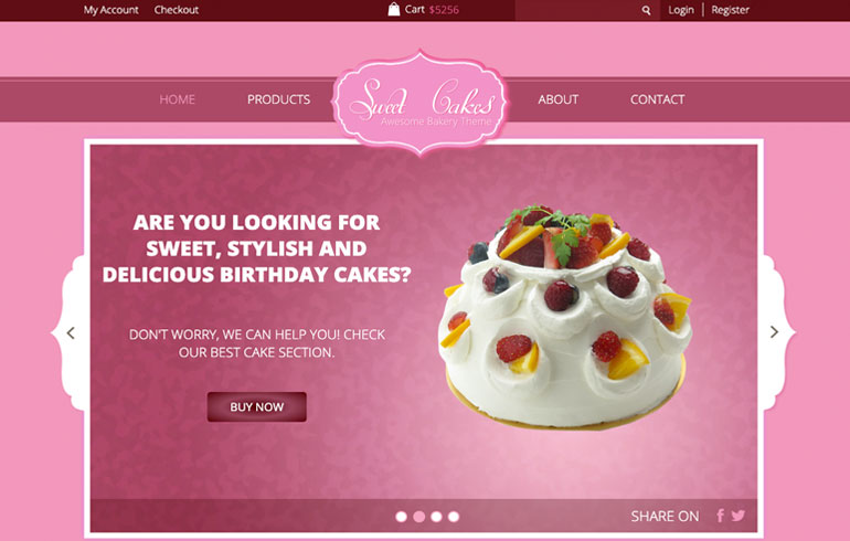 Bakes and Hotel online Bakery template