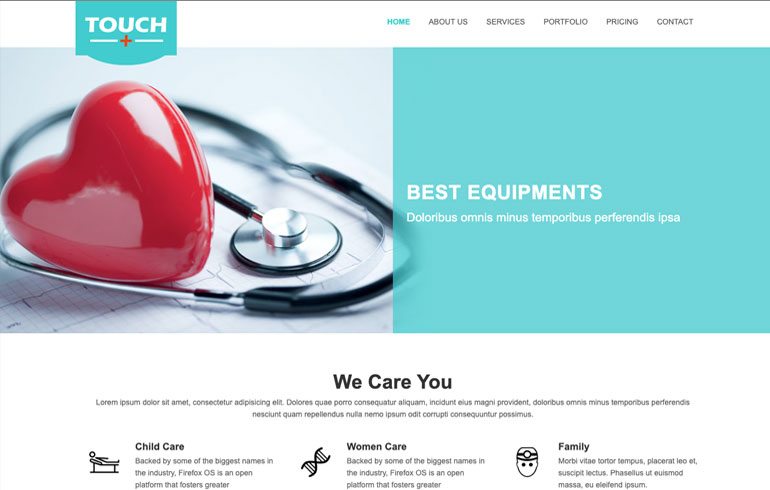 Free Css Website Template for medical service