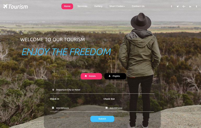 free tourism template