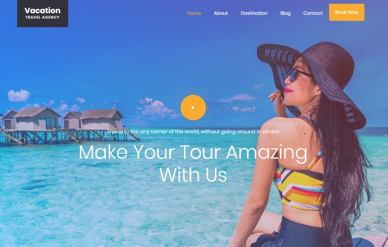 free online parallax agent Website template