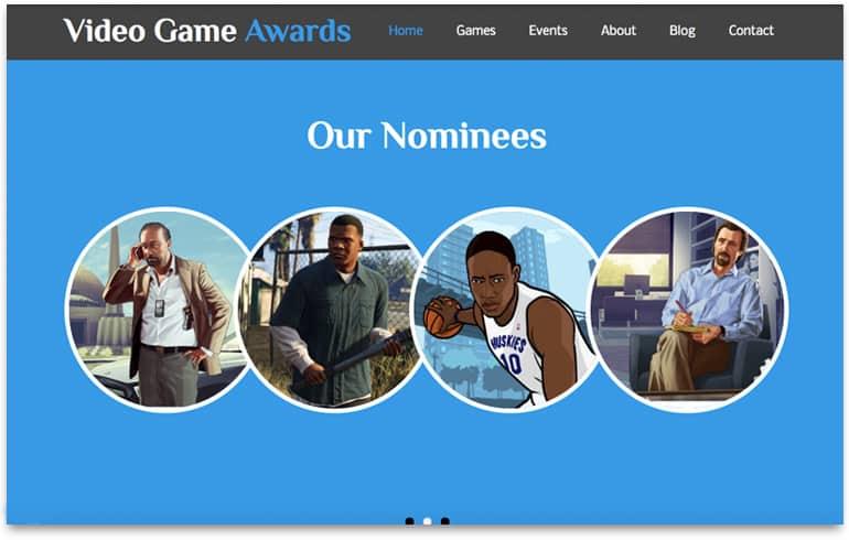 free awarding templates for gambling website