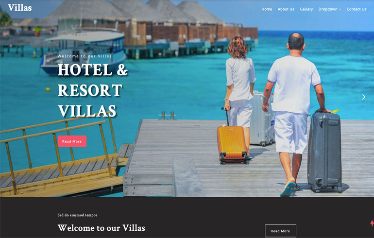 free css Hotel template