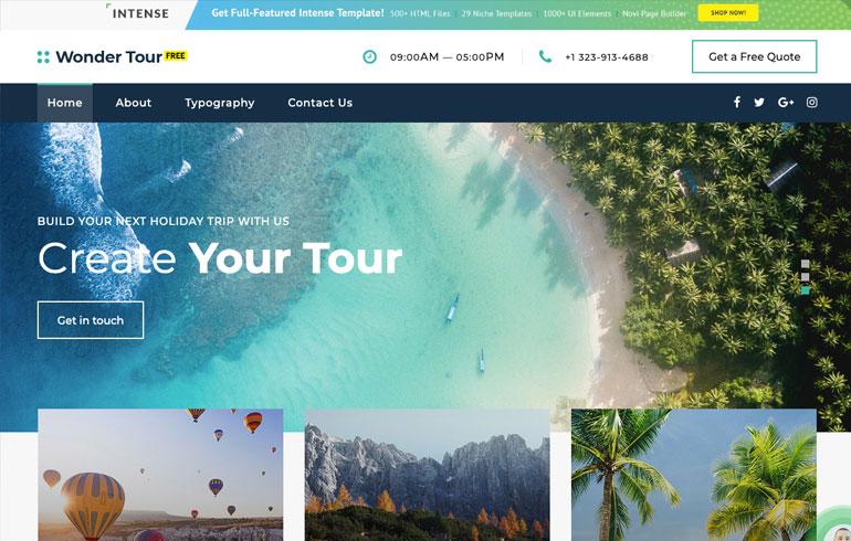 free online agency Website template