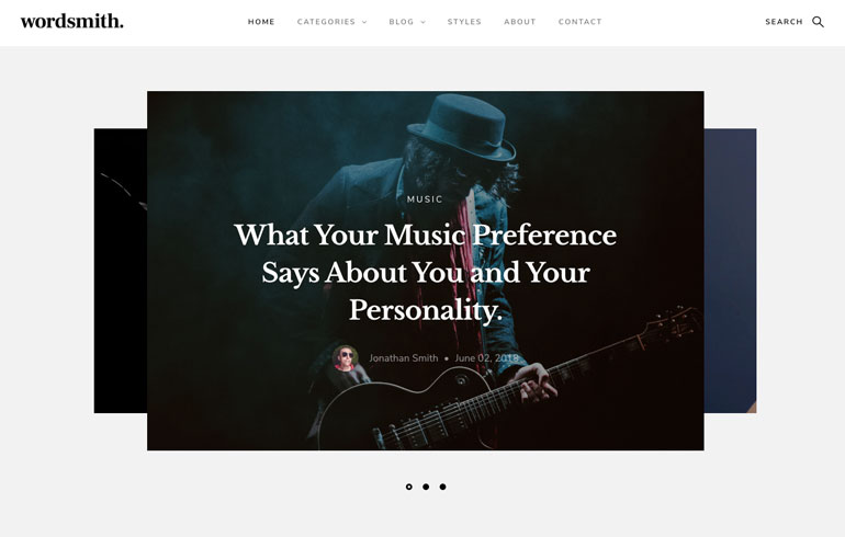 article template for blog website