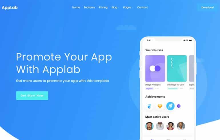 free css app template