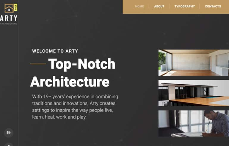 Arty - A Free/Premium Architecture Website Template