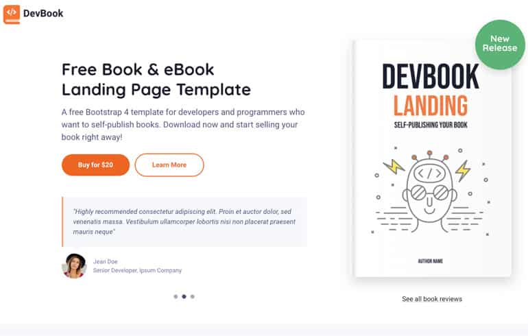 free css templates for ebook