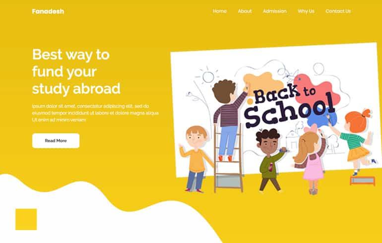 Fanadesh : Education Free CSS Templates