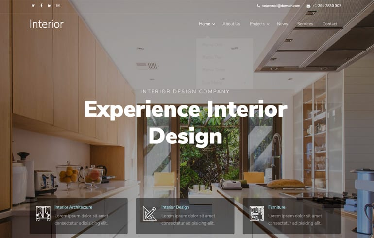 Interior Design A Free Architect Website Template