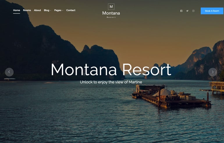 free hotel resort theme