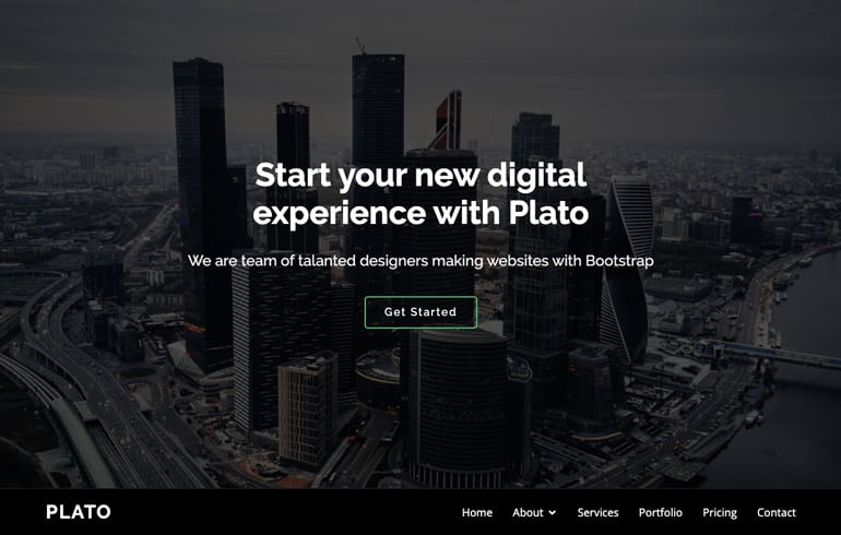 free CSS templates for marketer website
