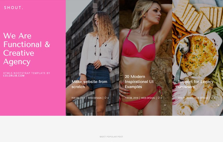 Shout - A Free Bootstrap Blog Website Template