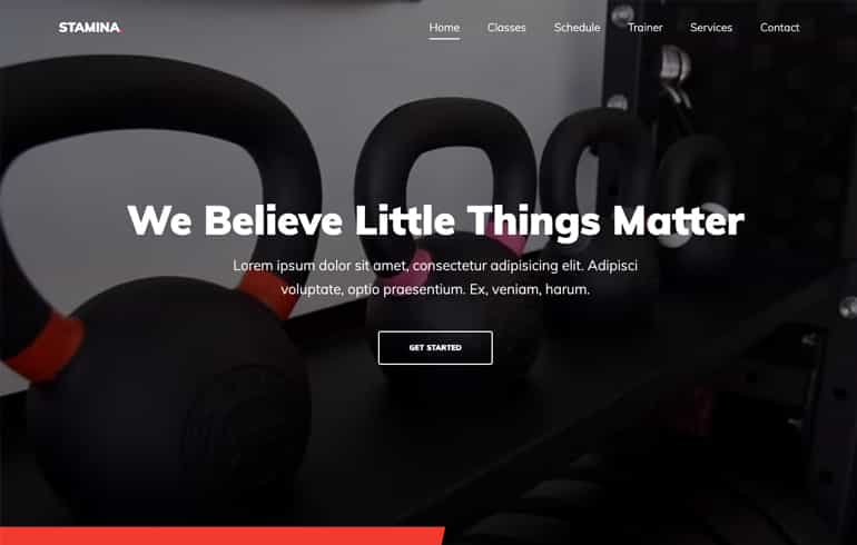 Stamina - A Free Bootstrap Gym Website