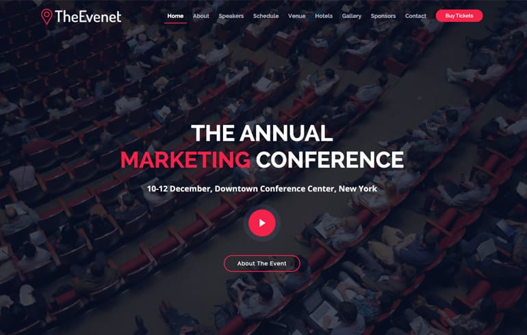 free CSS templates for event website