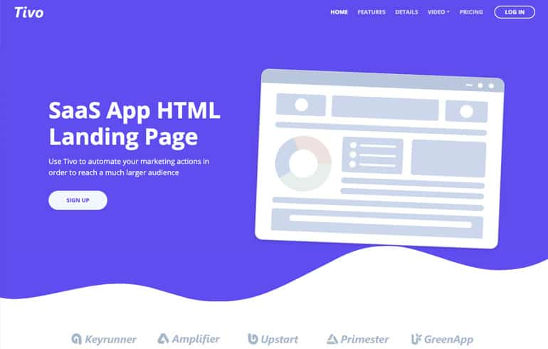 free css templates for SaaS landing page