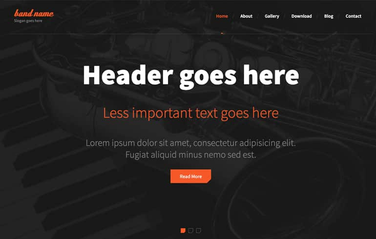 free HTML5 templates for band