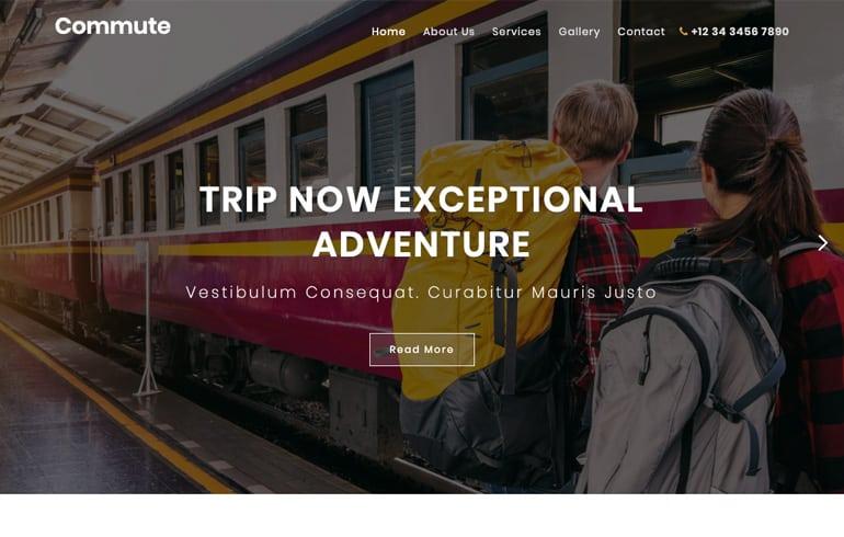 free travel blog template