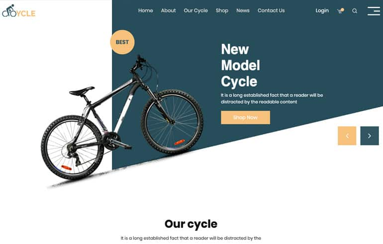 free css for shopping website template