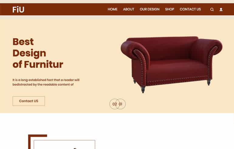 free css for Furniture website template