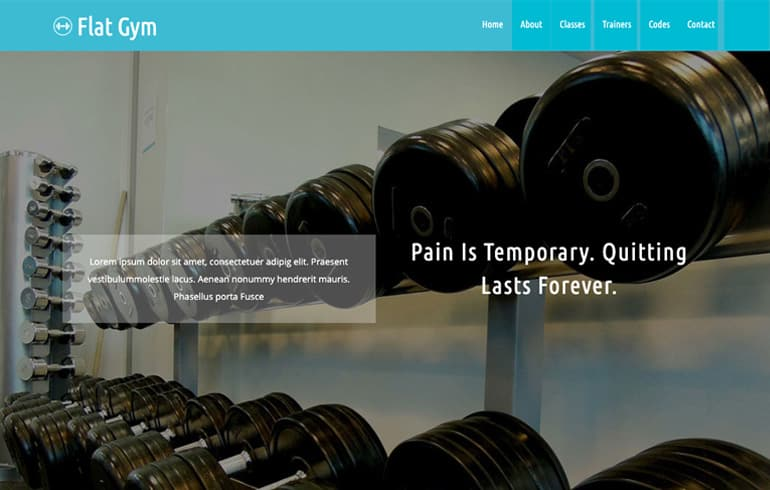 free gym template for sports lovers