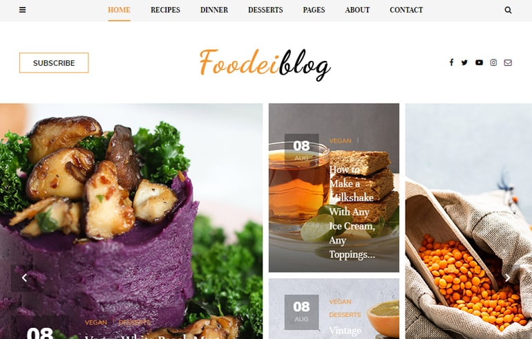 FoodeiBlog - A Responsive Food Template