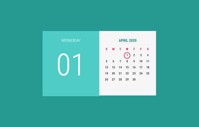 HTML/CSS Calendar