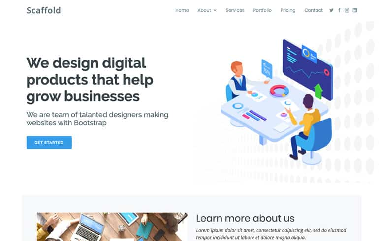 free CSS templates for advertiser service website