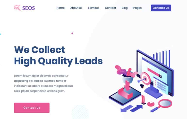 free CSS templates for SEO marketer website