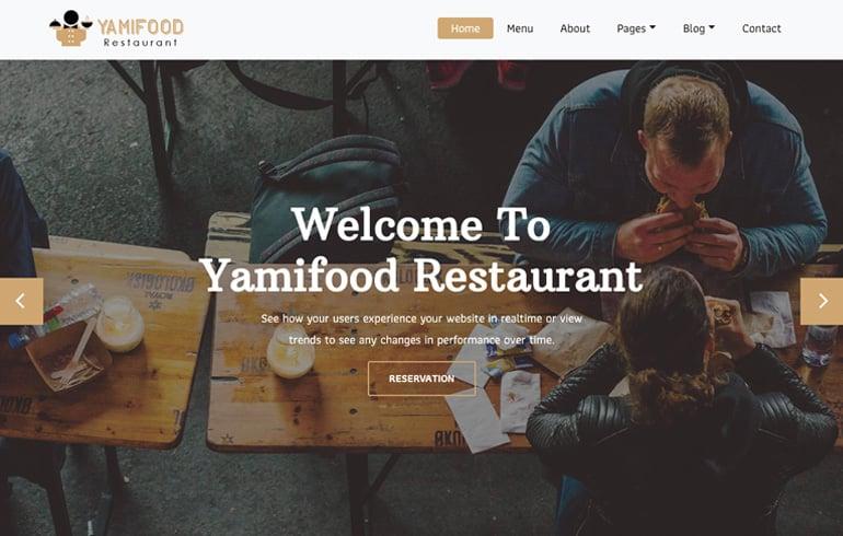Yanmi Food - A Restaurant Template